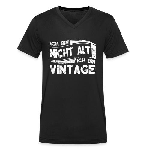 Ich bin Vintage - Männer Bio-T-Shirt mit V-Ausschnitt von Stanley & Stella