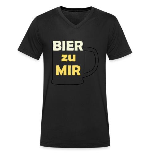 Bier zu mir - Männer Bio-T-Shirt mit V-Ausschnitt von Stanley & Stella