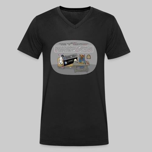 VJocys Sun - Men's Organic V-Neck T-Shirt by Stanley & Stella
