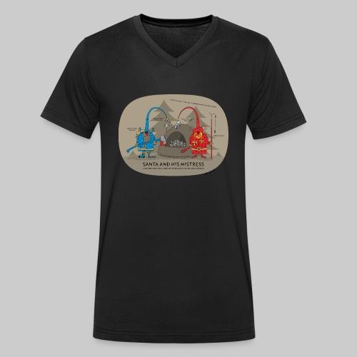 VJocys Santa Blue - Men's Organic V-Neck T-Shirt by Stanley & Stella