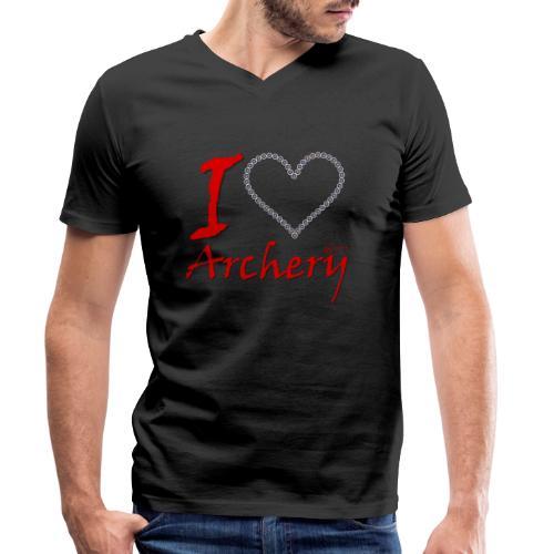 Archery Love - Männer Bio-T-Shirt mit V-Ausschnitt von Stanley & Stella