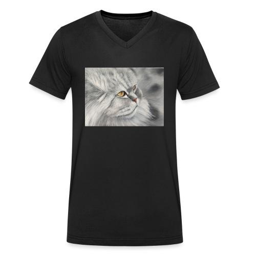 Greta von der Pelz - Männer Bio-T-Shirt mit V-Ausschnitt von Stanley & Stella