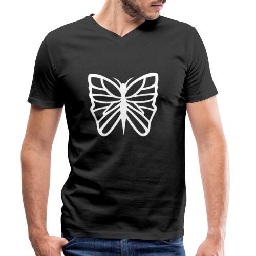 Avancerat fjärils motiv. - Ekologisk T-shirt med V-ringning herr från Stanley & Stella