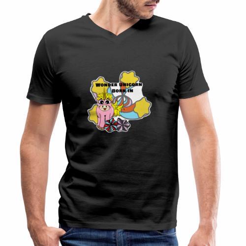 Merveilleuse Licorne née (pour fille) - T-shirt bio col V Stanley & Stella Homme