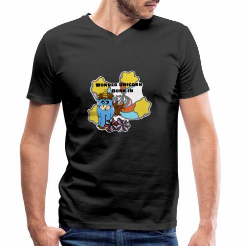 Une merveilleuse licorne est née (pour garcon) - T-shirt bio col V Stanley & Stella Homme