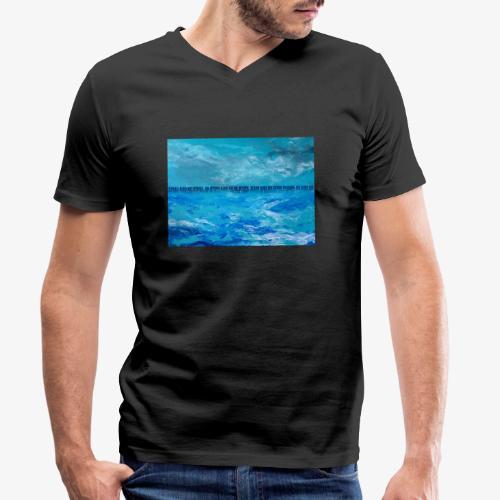 Atlantyda - Ekologiczna koszulka męska z dekoltem w serek Stanley & Stella