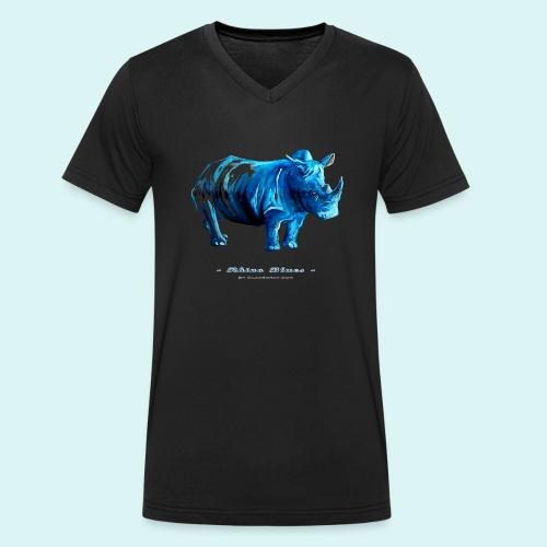 Rhino Blues - Men's Organic V-Neck T-Shirt by Stanley & Stella