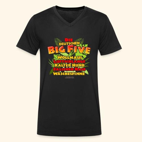 Sprüche T Shirt Die deutschen Big Five - Männer Bio-T-Shirt mit V-Ausschnitt von Stanley & Stella