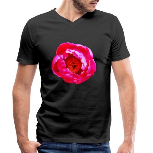 TIAN GREEN Garten - Pfingstrose 2020 01 - Männer Bio-T-Shirt mit V-Ausschnitt von Stanley & Stella