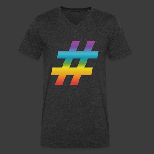rainbow hash include - Men's Organic V-Neck T-Shirt by Stanley & Stella