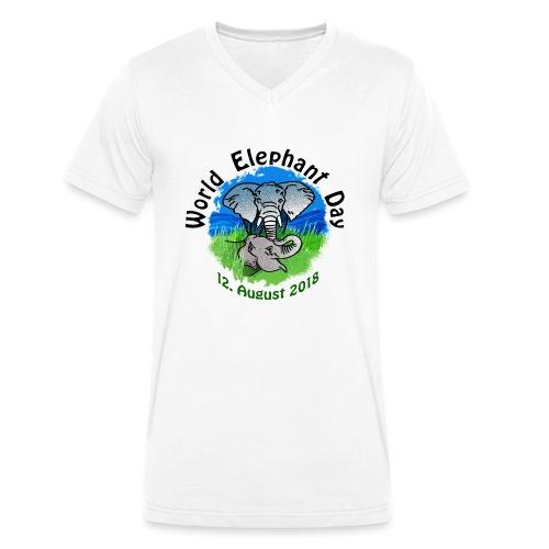 World Elephant Day 2018 - Männer Bio-T-Shirt mit V-Ausschnitt von Stanley & Stella