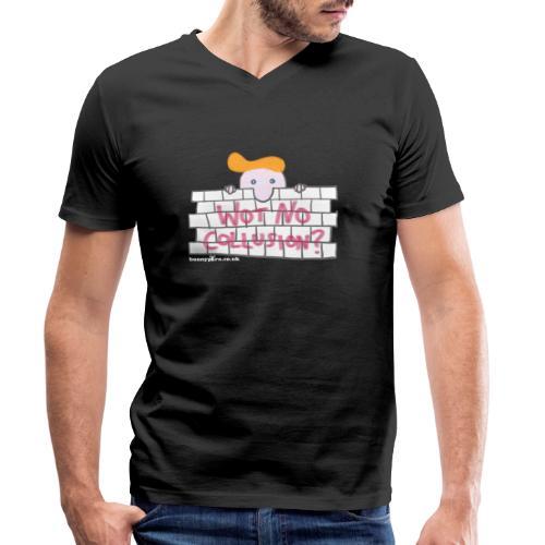 Trump's Wall - Men's Organic V-Neck T-Shirt by Stanley & Stella