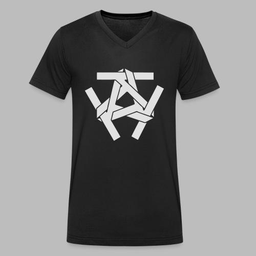 KKK-Logo-vektor - Männer Bio-T-Shirt mit V-Ausschnitt von Stanley & Stella