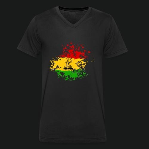 dc_10_logo_rastanew_passe - Männer Bio-T-Shirt mit V-Ausschnitt von Stanley & Stella