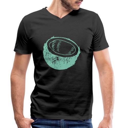 coconut-Kokosnuss - Männer Bio-T-Shirt mit V-Ausschnitt von Stanley & Stella