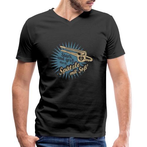 Spätzle mit Soß - Männer Bio-T-Shirt mit V-Ausschnitt von Stanley & Stella