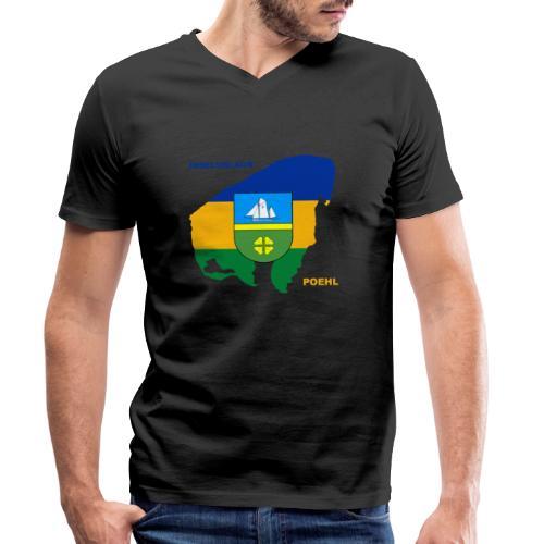 Poehl Insel Ostsee Urlaub - Männer Bio-T-Shirt mit V-Ausschnitt von Stanley & Stella