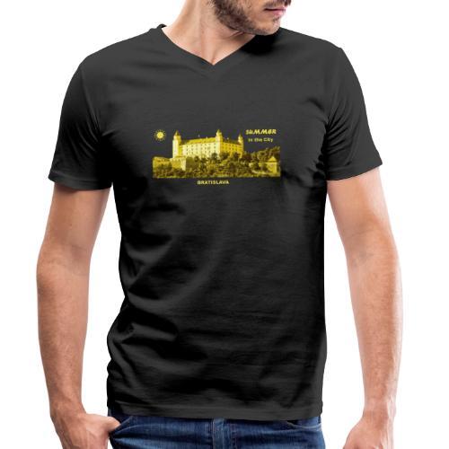 Summer Bratislava City Slowakei Burg Donau Sommer - Männer Bio-T-Shirt mit V-Ausschnitt von Stanley & Stella