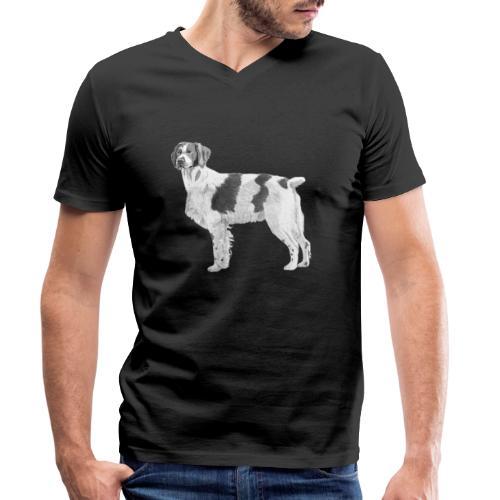 Brittany - Breton - Økologisk Stanley & Stella T-shirt med V-udskæring til herrer