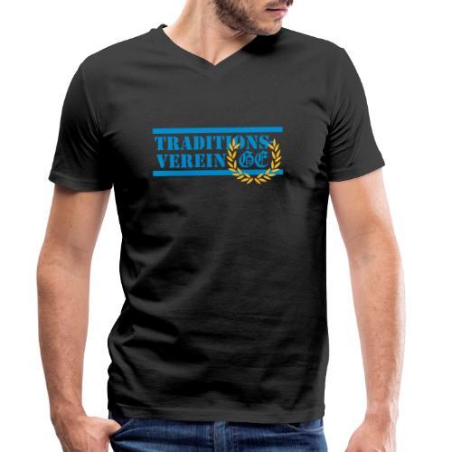 Traditionsverein - Männer Bio-T-Shirt mit V-Ausschnitt von Stanley & Stella