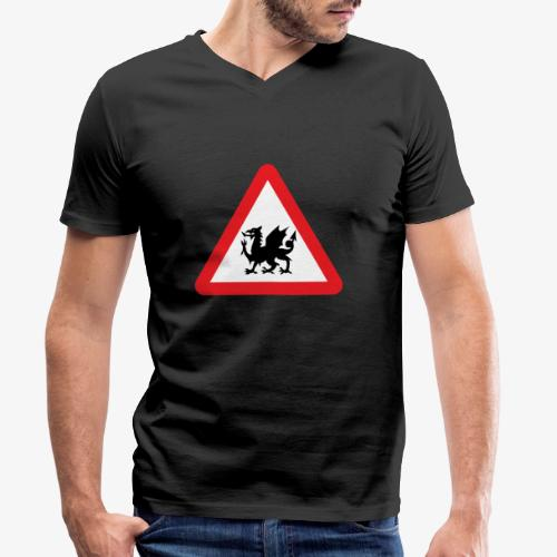 Welsh Dragon - Men's Organic V-Neck T-Shirt by Stanley & Stella