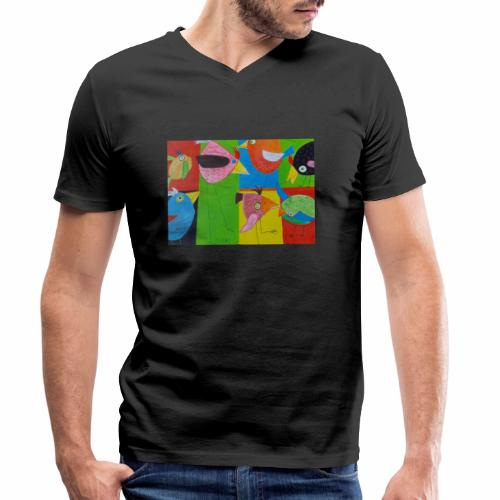 Lovebirds - Liebesvögel - Männer Bio-T-Shirt mit V-Ausschnitt von Stanley & Stella