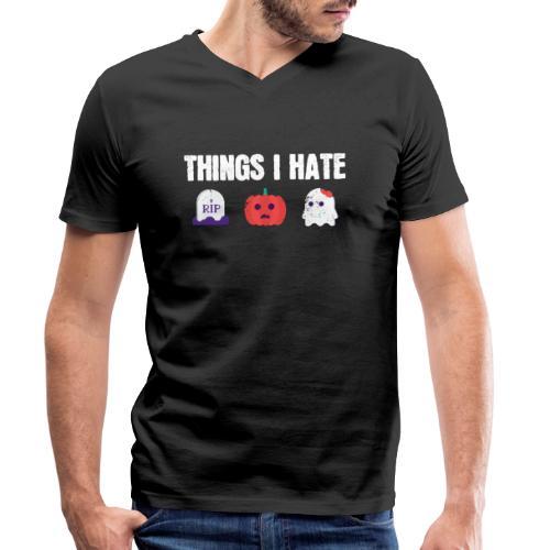 Fuck Halloween Gegen Nein Anti Shirt - Männer Bio-T-Shirt mit V-Ausschnitt von Stanley & Stella
