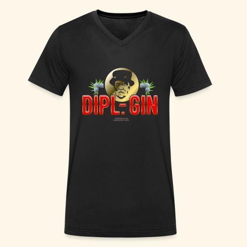 Gin T Shirt Design Dipl.-Gin - Männer Bio-T-Shirt mit V-Ausschnitt von Stanley & Stella