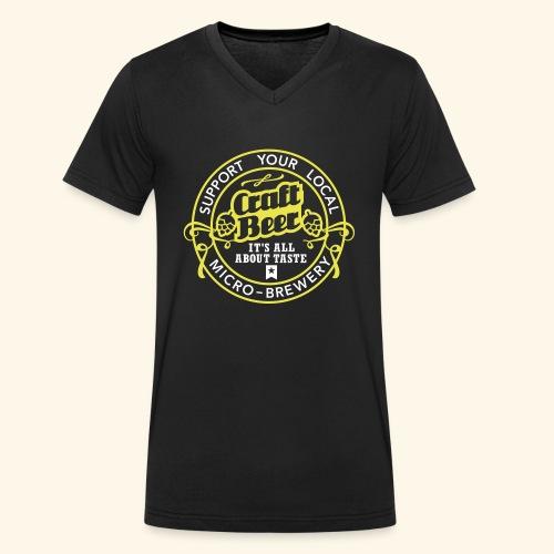 Craft Beer - Männer Bio-T-Shirt mit V-Ausschnitt von Stanley & Stella