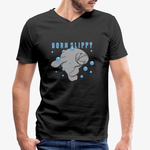 Born Slippy - Men's Organic V-Neck T-Shirt by Stanley & Stella