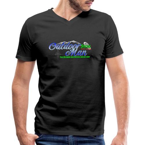 Special Edition Outdoor Man Wandern Vatertag - Männer Bio-T-Shirt mit V-Ausschnitt von Stanley & Stella