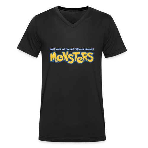 Monsters - Men's Organic V-Neck T-Shirt by Stanley & Stella