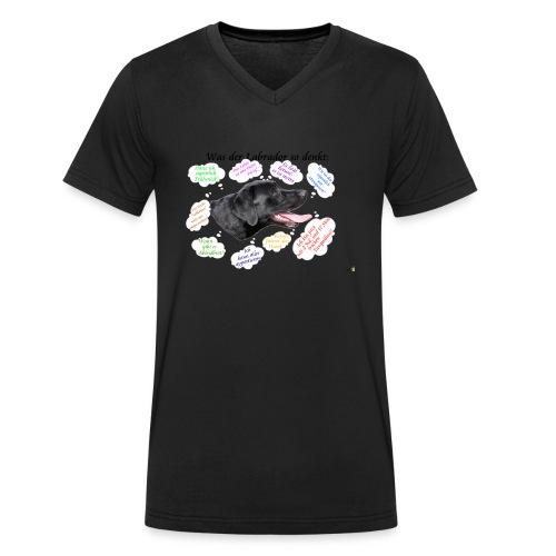 Labrador Gedanken - Männer Bio-T-Shirt mit V-Ausschnitt von Stanley & Stella
