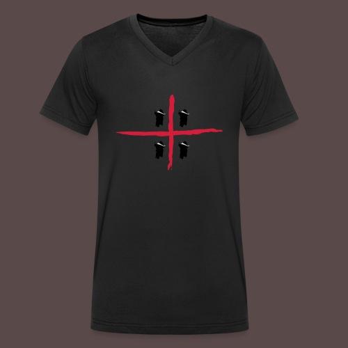 Sardegna Bendata, 4 Mori orizzontale - T-shirt ecologica da uomo con scollo a V di Stanley & Stella