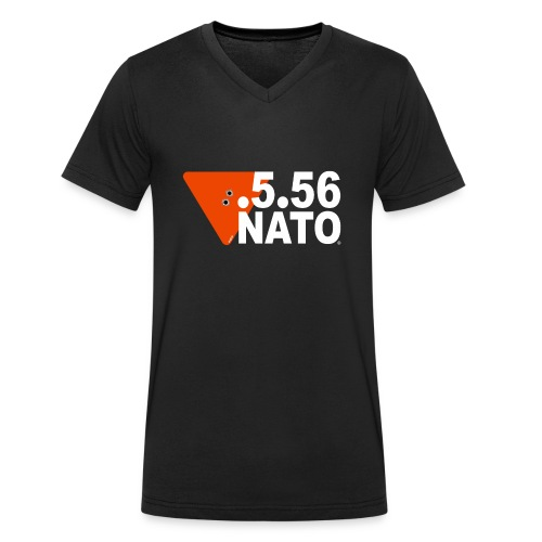 .5.56 NATO BLANC - T-shirt bio col V Stanley & Stella Homme