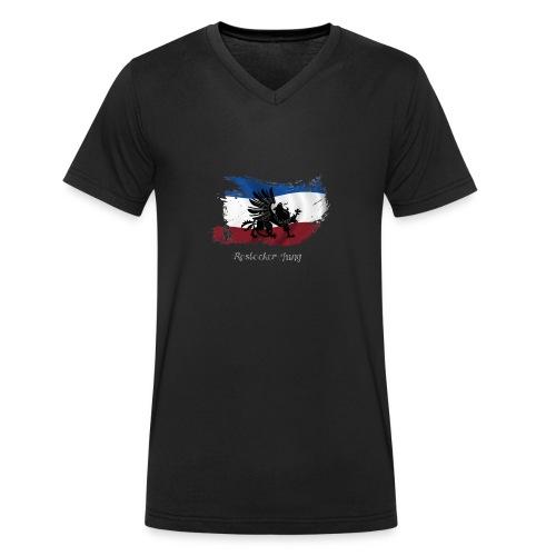 rostocker_jung_weiss - Männer Bio-T-Shirt mit V-Ausschnitt von Stanley & Stella