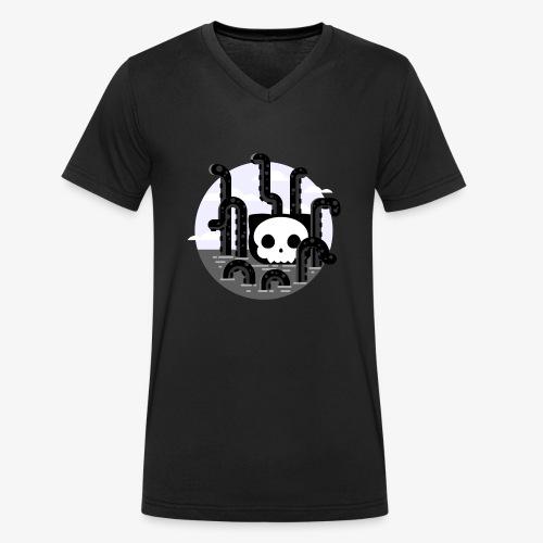Cat octopus | Monster cat Github | Css | Web - Men's Organic V-Neck T-Shirt by Stanley & Stella