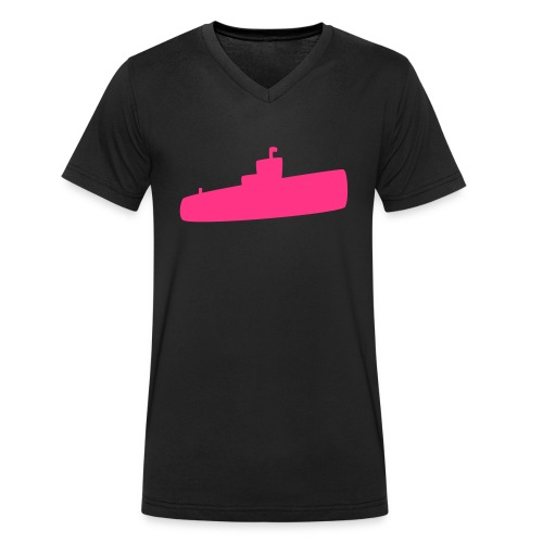 Rosa U-Boot - Männer Bio-T-Shirt mit V-Ausschnitt von Stanley & Stella