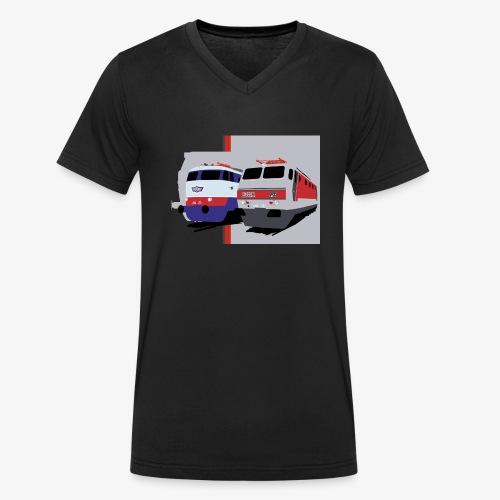 FS E444 / E444R - T-shirt ecologica da uomo con scollo a V di Stanley & Stella