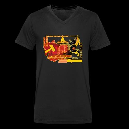 mai tre principal C Arme e rouge - T-shirt bio col V Stanley & Stella Homme