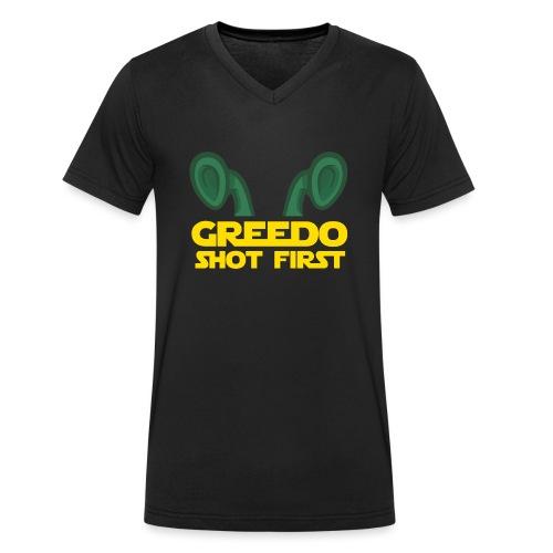 GreedoShotFirst 02 - Mannen bio T-shirt met V-hals van Stanley & Stella