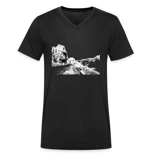 J'aime Mouleydier - Pont F - T-shirt bio col V Stanley & Stella Homme