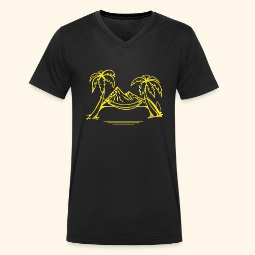 Reiselust - Männer Bio-T-Shirt mit V-Ausschnitt von Stanley & Stella