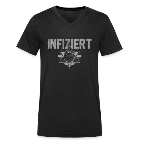 Infiziert2019 - Männer Bio-T-Shirt mit V-Ausschnitt von Stanley & Stella