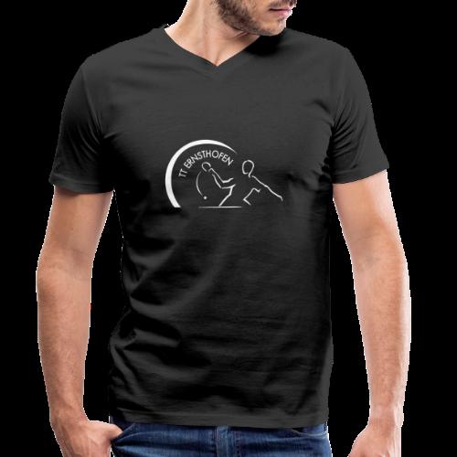 TTE Logo Weiss - Männer Bio-T-Shirt mit V-Ausschnitt von Stanley & Stella
