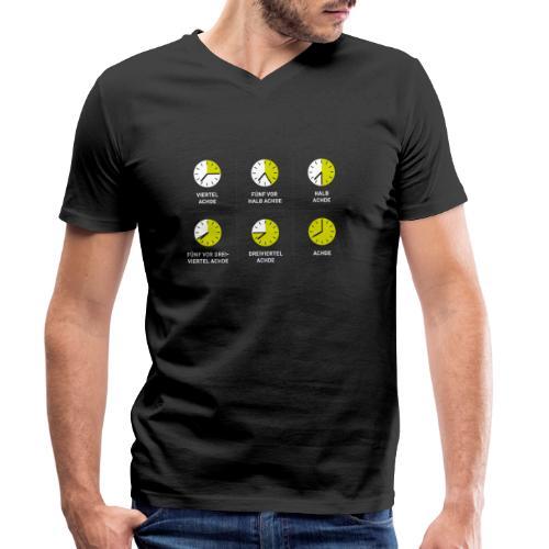 Uhrzeit auf schwäbisch - Männer Bio-T-Shirt mit V-Ausschnitt von Stanley & Stella