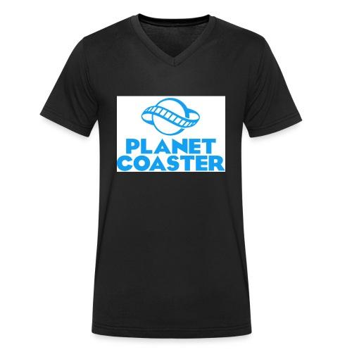 game planet coaster - Mannen bio T-shirt met V-hals van Stanley & Stella