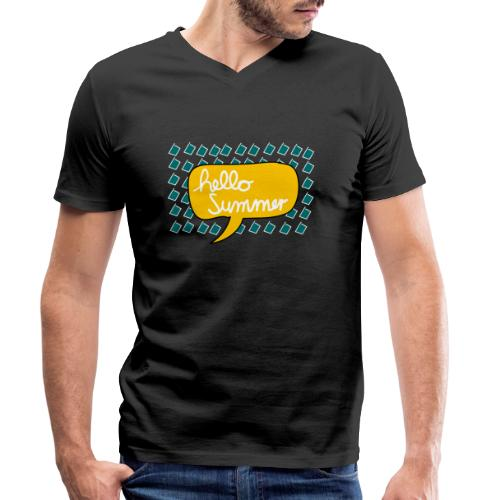 Hello Summer - Männer Bio-T-Shirt mit V-Ausschnitt von Stanley & Stella