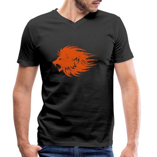 MWB Print Lion Orange - Men's Organic V-Neck T-Shirt by Stanley & Stella