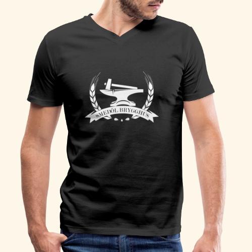 Smedöl Brygghus Logga Vit - Ekologisk T-shirt med V-ringning herr från Stanley & Stella